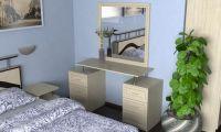 Стол косметический 01 с зеркалом